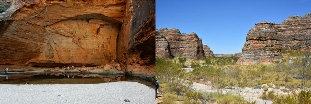 Cathedral Gorge Purnululu National Park. The beehive shaped sandstone cones.